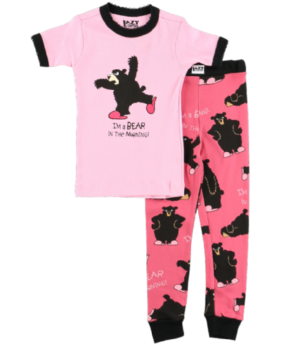 Bear in the Morning - Girls Short Sleeve PJ Set - Lazy One®